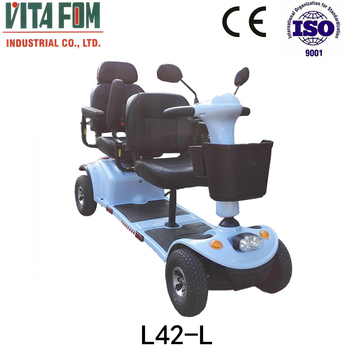 Hot-selling Four Wheel Disabled/Handicapped/Elderly Electric Mobility Scooter (Taiwan Motor & PG Controller) with CE & Two Seats