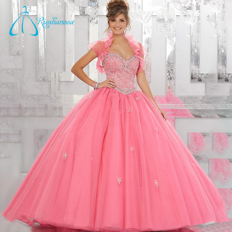 Sweetheart Two Pieces Ball Gowns Puffy Quinceanera Dress