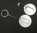 Round Business Credit Card USB Flash Drive 8GB 16GB 32GB 64GB Pen Drive
