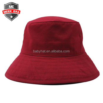 Wholesale women summer outdoor sun protection bucket hat plain red beach foldable hat