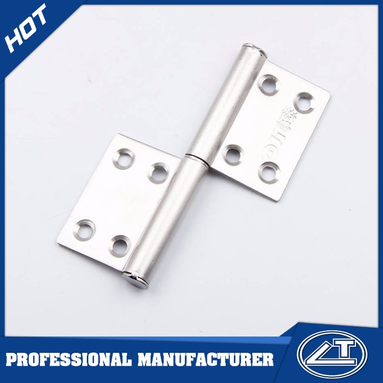 European flat ss flag shape door hinges with bearings
