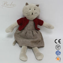 New Kids Toys Red Cat Plush Stuffed Soft Toys with Sweaters for 2014 Christmas Gifts
