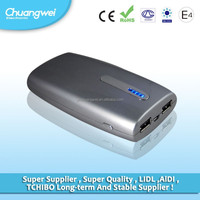 2014 Factory direct deal Power Banks 5V 2.1A double usb Power Bank 10000mah