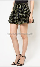 2014 Fashion Designer Skirt For Ladies/Women Polka Dot Peplum Miniskirt