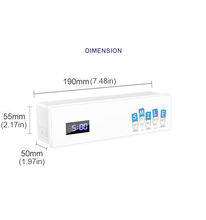 Moderne Wandmontage UV Tandenborstel Sanitizer Holder