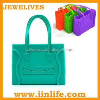 New generation candy color jelly silicone beach bag