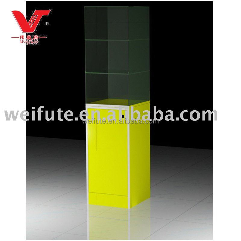 Hot sale tower glass display showcase for mobile phone shop