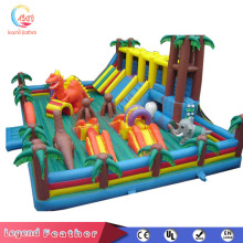 Large kids bouncing castle inflatable house with small slide