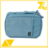 Dual zipper 300D polyester wash bag