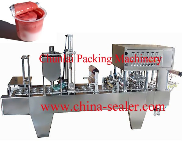BG60A-4C Automatic jam/sauce filling sealing machine for popcorn