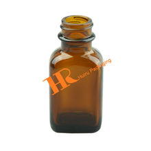 Amber Square Glass Bottle Medical Use Glass Bottle pharmaceutical bottle