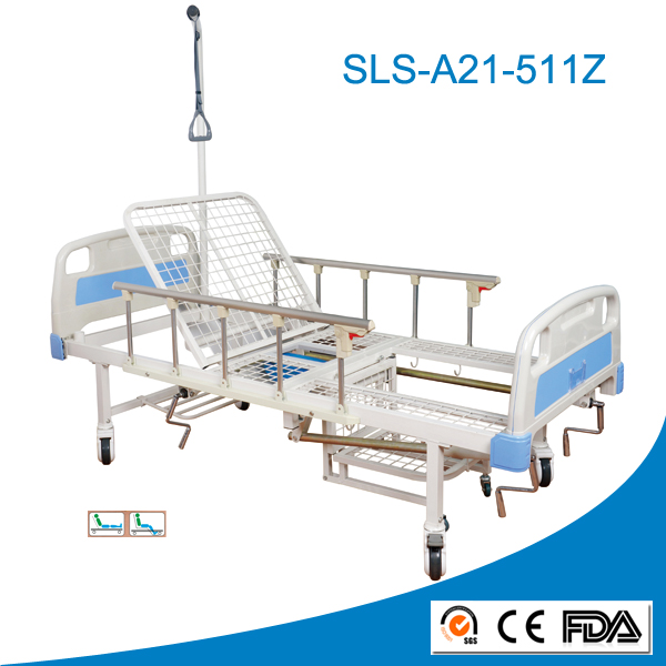 Hospital Commode Bed with Lift Pole Paralyzed Patients Hospital Bed