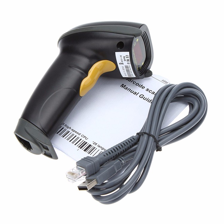 Factory price high quality 1d laser handy code bar barcode scanner for pos systems