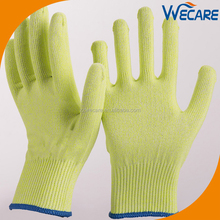 Factory Supply Yellow Color Multi Purpose High Performance Cut Resistant ANSI And CE Cut Level 5 Gloves