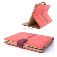 Luxury Leather Case For iPad Air 2 Folded Smart Tablet Case Back Stand Auto Sleep