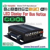 4 channel Surveillance kit with LED display 1TB SATA harddisk 3G WIFI MDVR