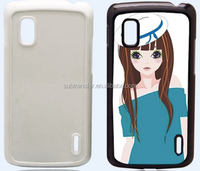 Hard PC Plastic Sublimation cellphone case, good quality mobile phone for Google Nexus 4 E960