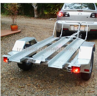 3 bikes load motorcycles trailer car trailer