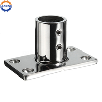 Stainless Steel Boat Deck Rectangular Stanchion Base For Marine Handrail
