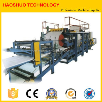 Continuous EPS glass fiber Sandwich Panel Production line, making machine for roof and wall