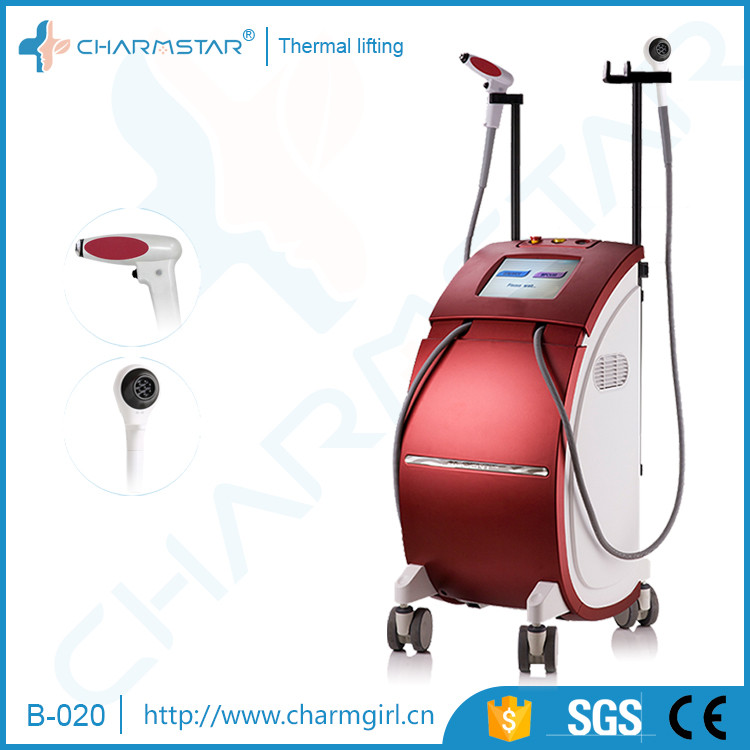 2017 stationary high focused radio frequency rf for face lifting skin tightening wrinkle removal machine