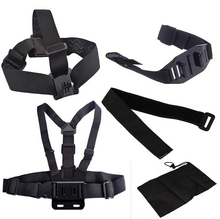 Wholesales Go Pro Accessories, Wrist Belt/ Head Strap/ Chest Belt/ Helmet Strap/Bag for Go Pro Accessories Set