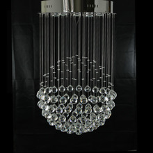 Modern and simple crystal chandeliers hanging wire