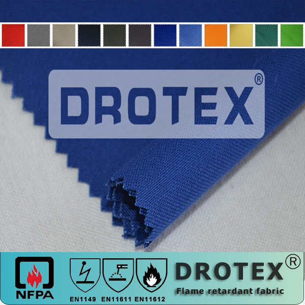 cotton poly flame retardant fire retardant antistatic acid resistant functional twill fabric