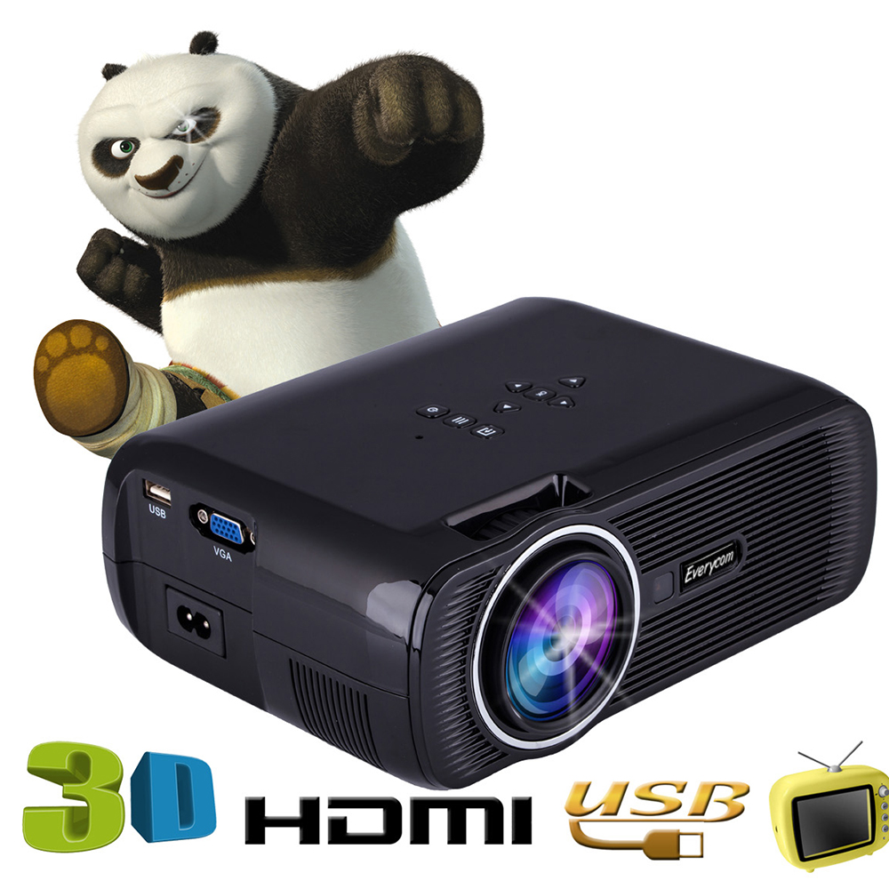 EC77 update version Everycom X7 Home Theater Beamer Multimedia Proyector Full Hd 1080p Video Mini TV Projector