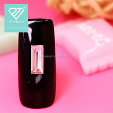 High Quality flat back Rectangle Acrylic Rhinestone trimming for nail