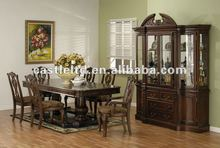 Solid Wood Hand Carved Big Size Antique Dining Room Set