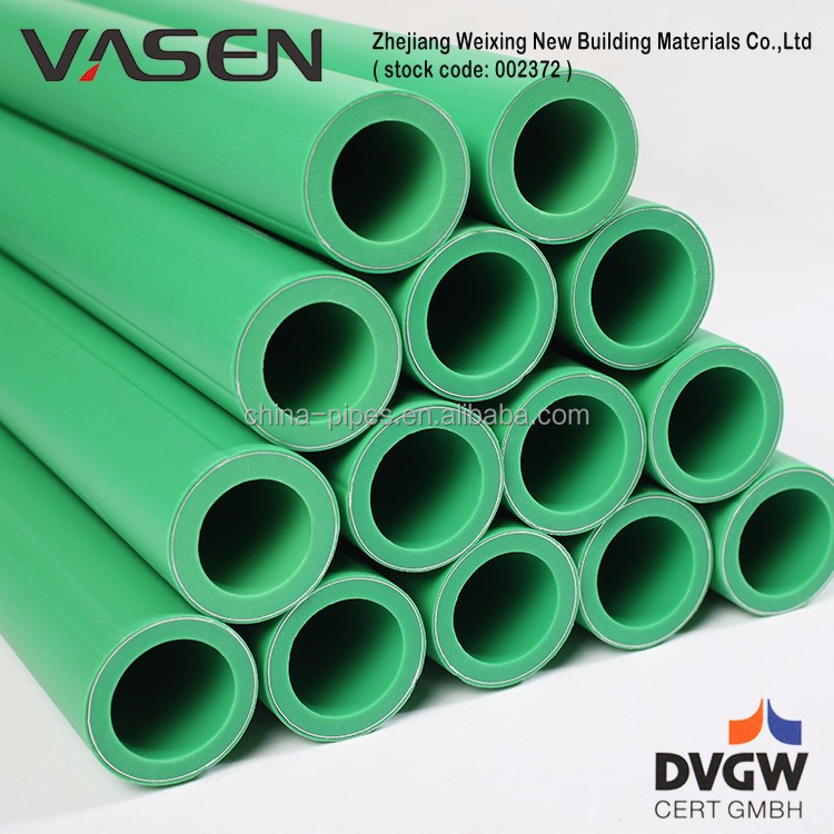 VASEN Customized Widely Used No-Toxic Aluminum composite ppr plastic pipe sizes