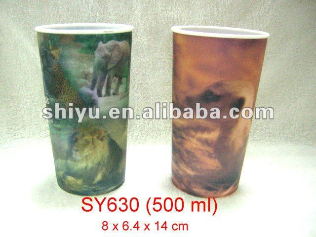 Animal design plastic cup ( for the Zoo )