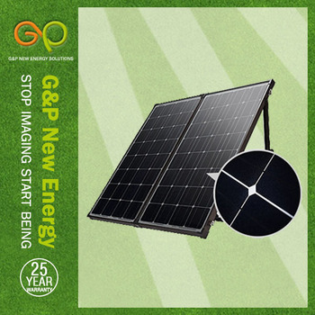 GP 160W Mono Foldable solar panel in high module eficiency for small wind grid tie inverter china