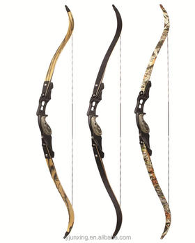 F161 camo Recurve bow maple wood recurve for hunting with factory price