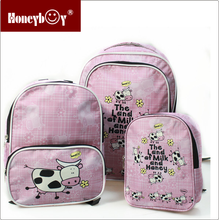 cute animal cow printed kids backpack series designer for 2015