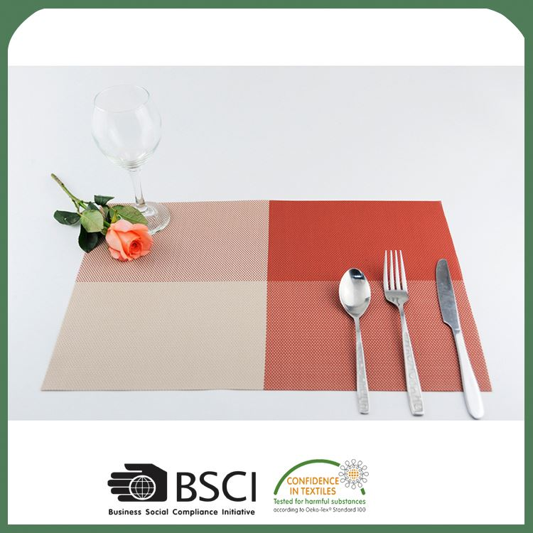 Top selling good quality disposable pvc woven mesh heated placemats