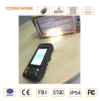 Mobile 4G LTE pos system rugged pda android bluetooth wifi 2d laser barcode scanner handheld wireless