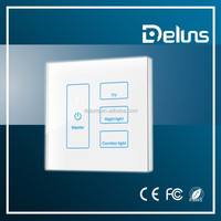 DLSA-4 Hotel touch doorbell with glass panel, Electrical doorplate