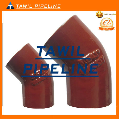 EPOXY COATED CAST IRON PIPE FITTING