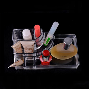 Hot sell countertop acrylic deco cosmetic organizer clear