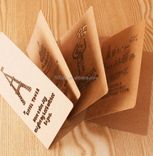 2017 Hot Sale Thanks giving Greeting cards Christmas Kraft Paper Birthday fancy Gift Card