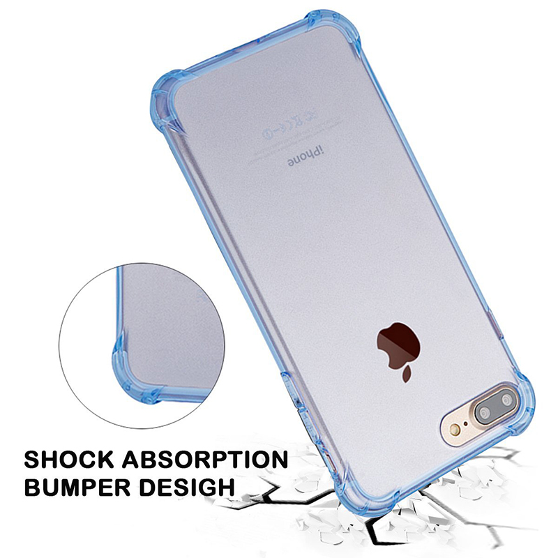 Shockproof telephone front and back cover soft tpu phone case for apple iphone i phone 6 6s 7 8 X 5c 4s se plus