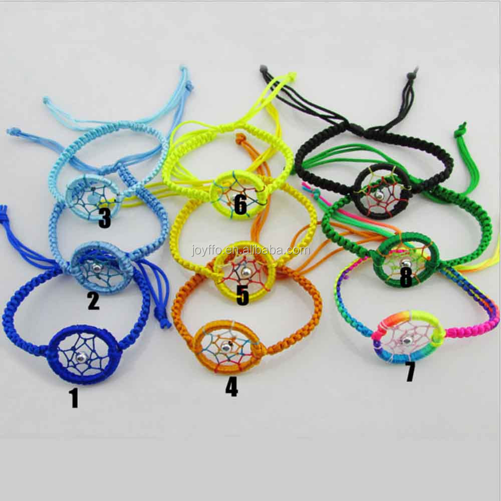 3HS-006 Hand Made Custom Thread Bracelet Jewelry Accessories A Fabric String Fashion Dreamcatcher Rope Bracelet
