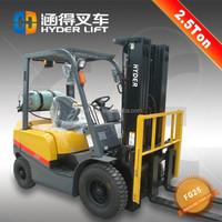 good performance 2.5 t gas forklift with strong push/pull driving