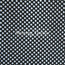 nylon polyester spandex dots flocked mesh fabric