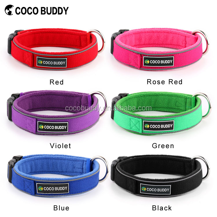 Eco-Friendly 100% Organic Pet supplies O-ring style Fleece Padded Bamboo hemp Dog Collars