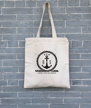 Personalized monogrammed printed canvas nautical tote bags for lady