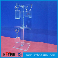 Desktop custom acrylic keychain display rack