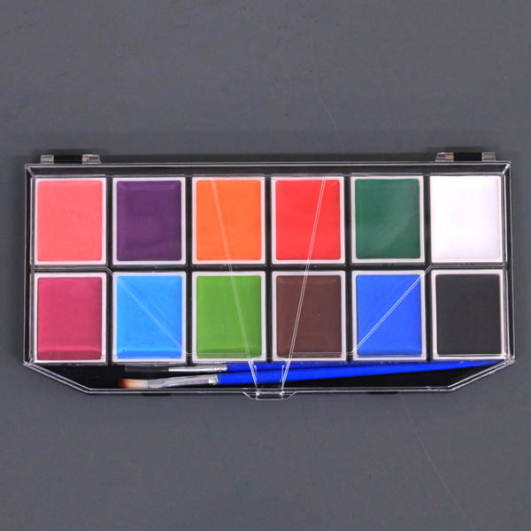 Professional 1 Set 12 Colors Flash Tattoo Face Body Paint Painting